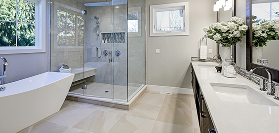 Bathroom remodeling services.